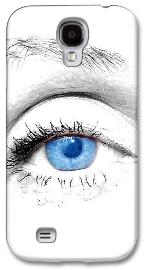 Art Galaxy S4 Case featuring the photograph Woman Blue Eye by Michal Bednarek