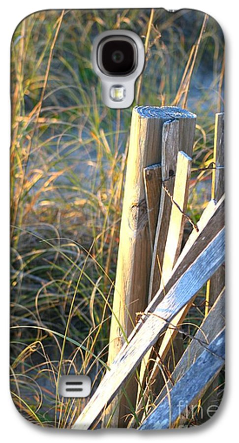 Post Galaxy S4 Case featuring the photograph Wooden Post And Fence At The Beach by Nadine Rippelmeyer