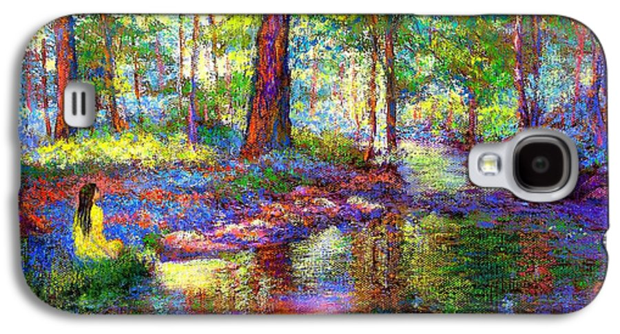 Woodland Galaxy S4 Case featuring the painting Woodland Rapture by Jane Small