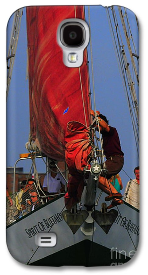 Sail Galaxy S4 Case featuring the photograph Working The Sails by Kathleen Struckle