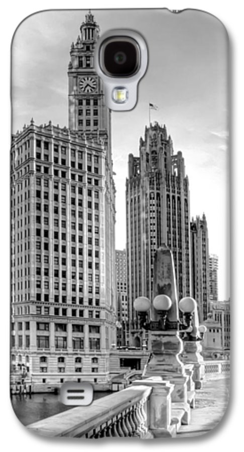 Architecture Galaxy S4 Case featuring the photograph Wrigley And Tribune by Scott Norris