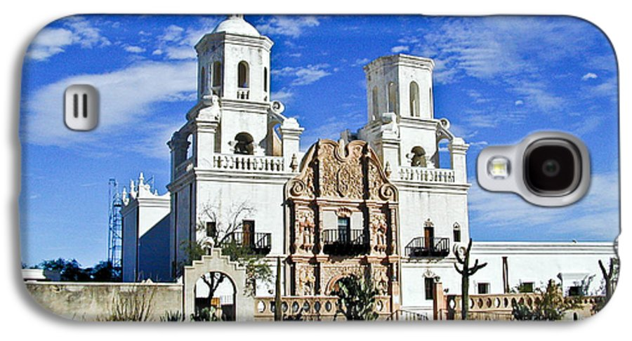 Mission San Xavier Del Bac Galaxy S4 Case featuring the photograph Xavier Tucson Arizona by Douglas Barnett