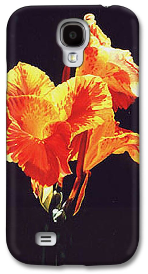 Floral Galaxy S4 Case featuring the painting Yellow Canna by Gary Hernandez