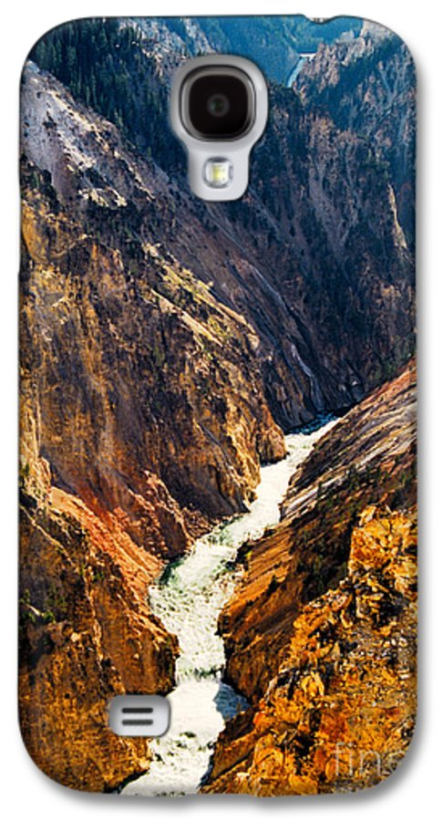 Yellowstone Galaxy S4 Case featuring the photograph Yellowstone River by Kathy McClure