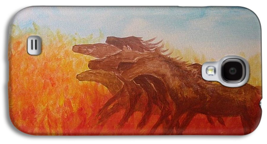 Horses Galaxy S4 Case featuring the painting You Shall Return No More To Egypt Deut 17 16 by Laurie Kidd