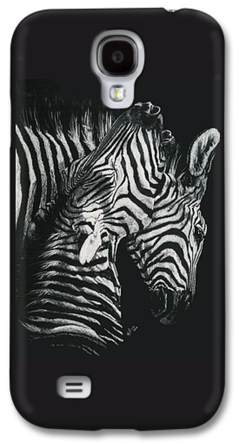 Art Galaxy S4 Case featuring the drawing Youngbloods by Barbara Keith
