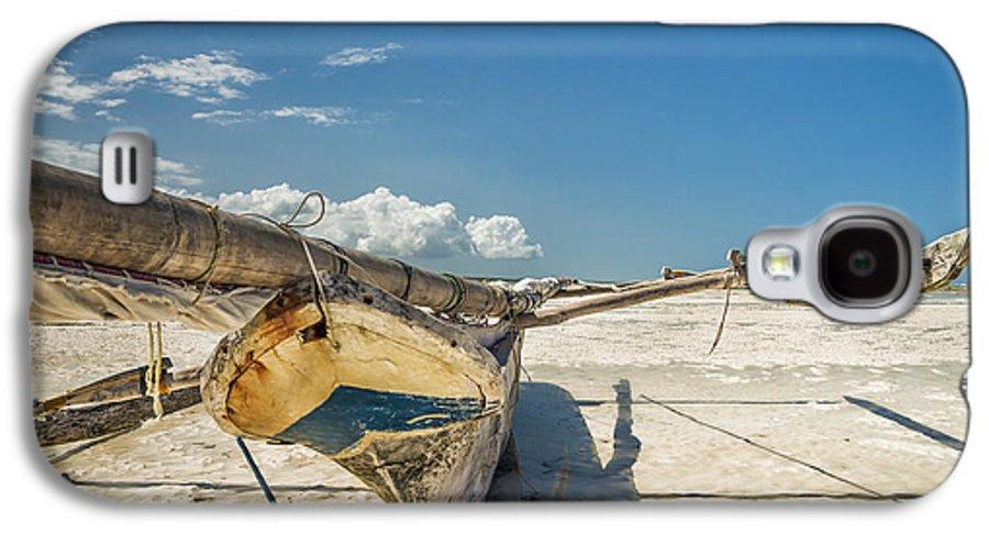 3scape Photos Galaxy S4 Case featuring the photograph Zanzibar Outrigger by Adam Romanowicz