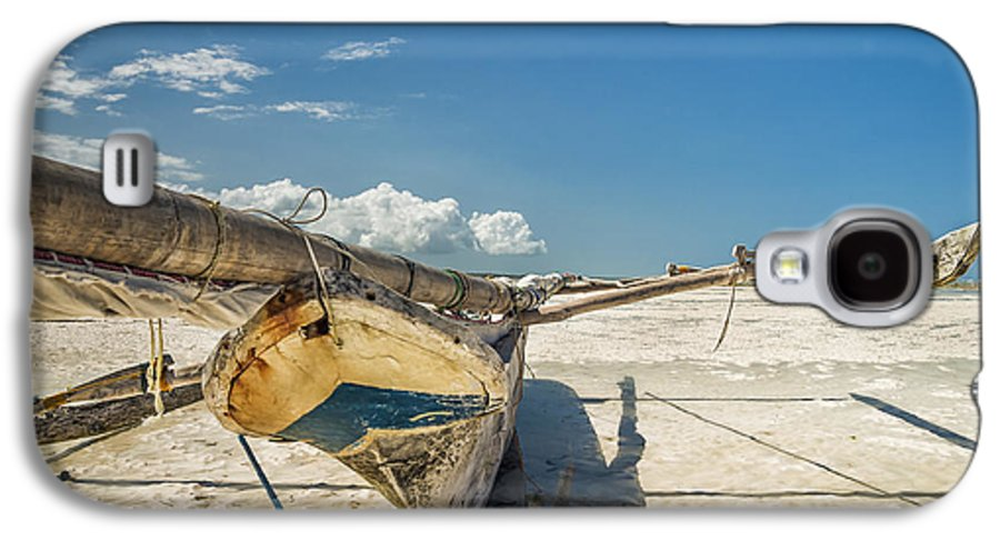 3scape Galaxy S4 Case featuring the photograph Zanzibar Outrigger by Adam Romanowicz