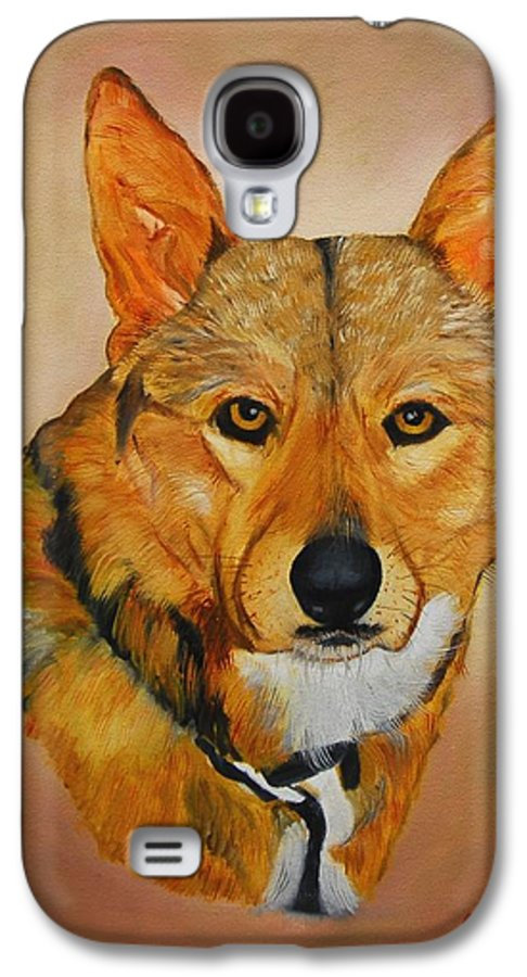 Animals Galaxy S4 Case featuring the painting Zavious by Quwatha Valentine