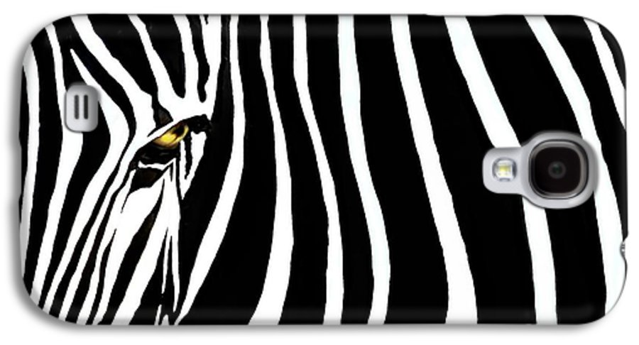 Zebra Galaxy S4 Case featuring the photograph Zebressence by Dan Holm
