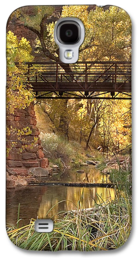 3scape Galaxy S4 Case featuring the photograph Zion Bridge by Adam Romanowicz