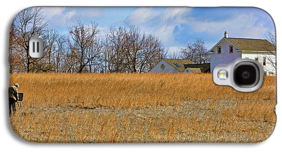 Bucks County Galaxy S4 Case featuring the photograph Artist In Field by William Jobes