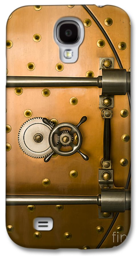 Architectural Galaxy S4 Case featuring the photograph Tumbler On A Vault Door by Adam Crowley