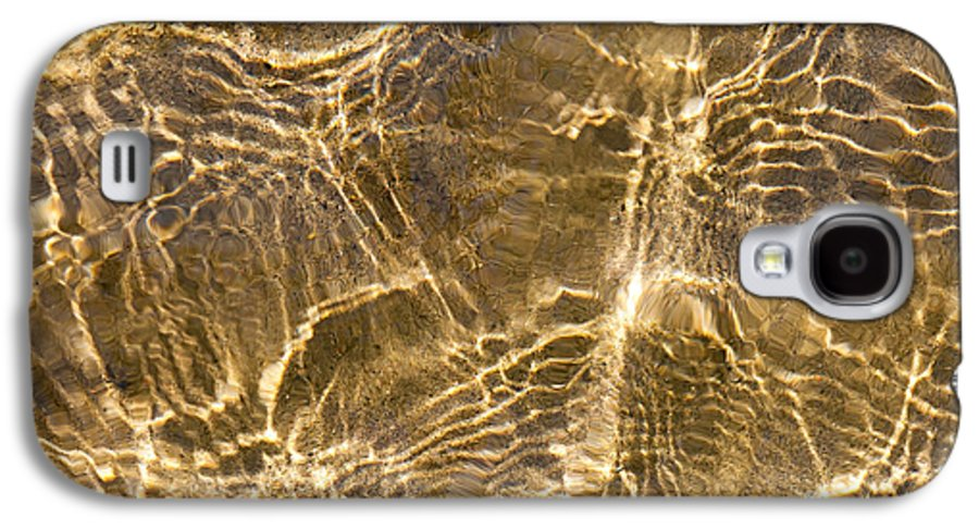 Water Galaxy S4 Case featuring the photograph Water And Sand Ripples by Elena Elisseeva