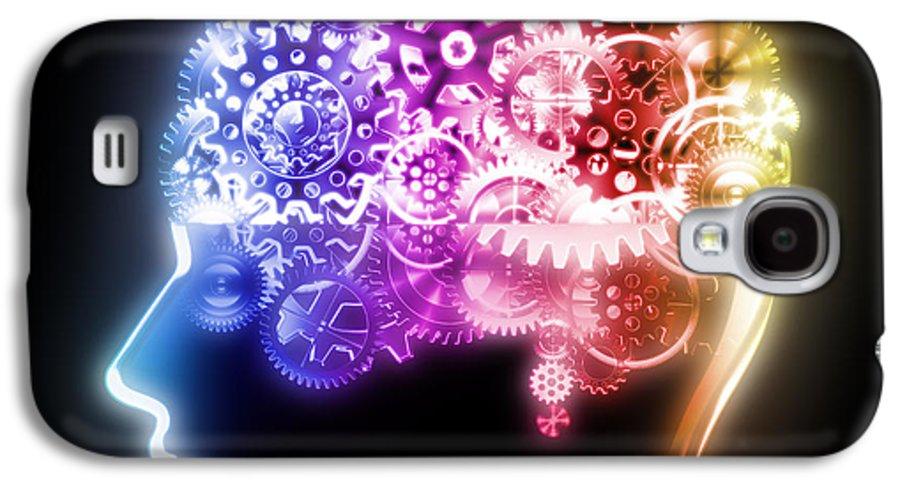 Art Galaxy S4 Case featuring the photograph Brain Design By Cogs And Gears by Setsiri Silapasuwanchai
