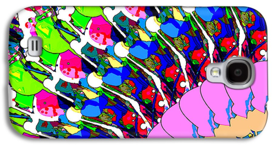 Abstract Galaxy S4 Case featuring the digital art Abstract Digital Art by Phil Perkins