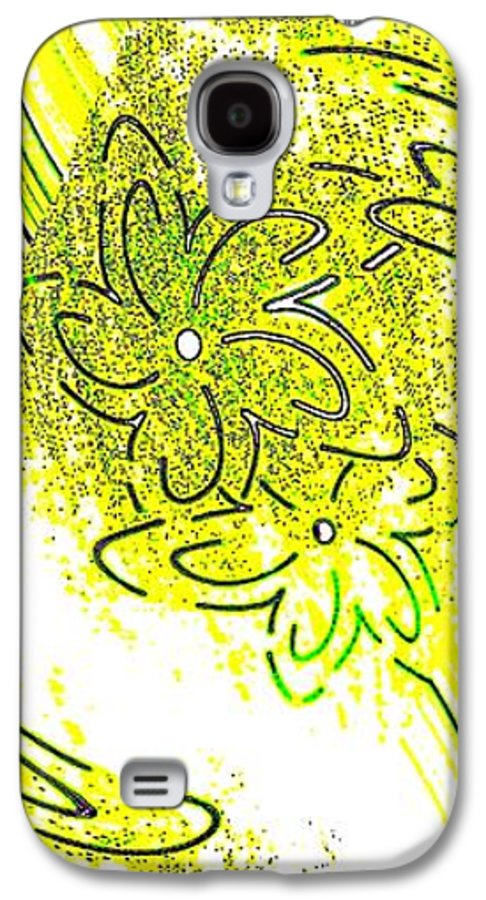 Abstract Fusion Galaxy S4 Case featuring the digital art Abstract Fusion 107 by Will Borden