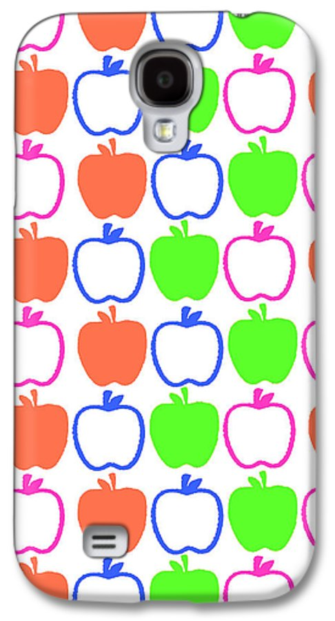 Louisa Galaxy S4 Case featuring the digital art Apples by Louisa Knight