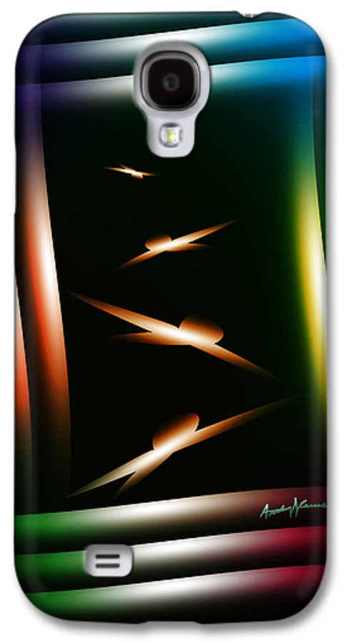 Abstract Galaxy S4 Case featuring the digital art Birdhouse by Anthony Caruso