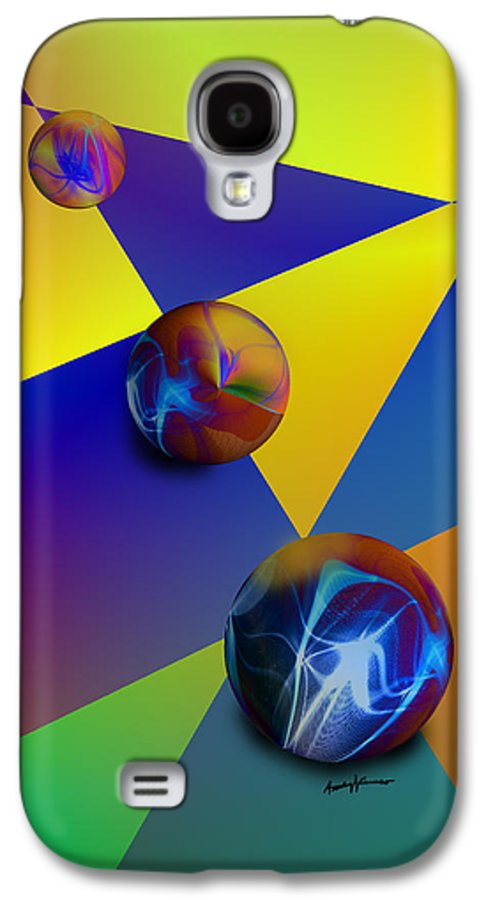 Abstract Galaxy S4 Case featuring the digital art Bocce by Anthony Caruso