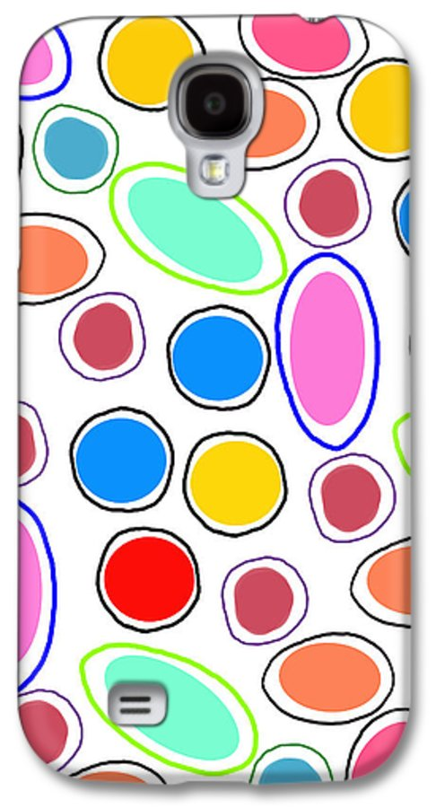 Louisa Galaxy S4 Case featuring the digital art Candy Spots by Louisa Knight