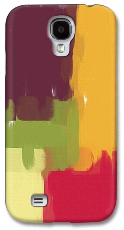 Abstract Galaxy S4 Case featuring the painting Colorblock Winter by Heidi Smith