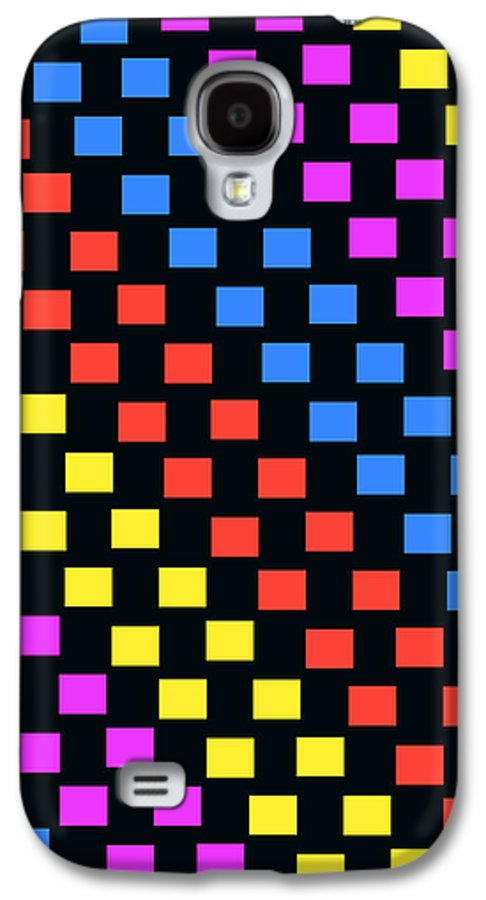 Louisa Galaxy S4 Case featuring the digital art Colorful Squares by Louisa Knight