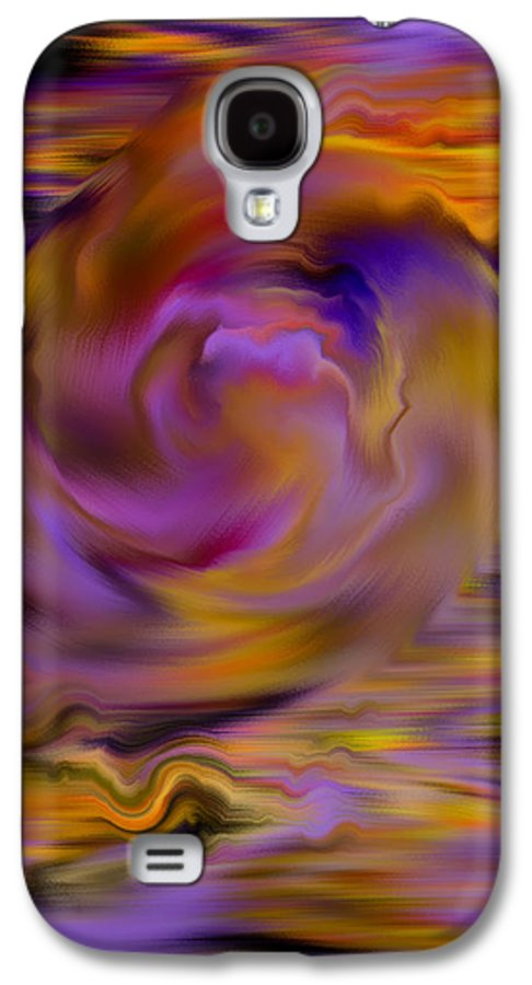 Digital Galaxy S4 Case featuring the painting Colourful Swirl by Hakon Soreide