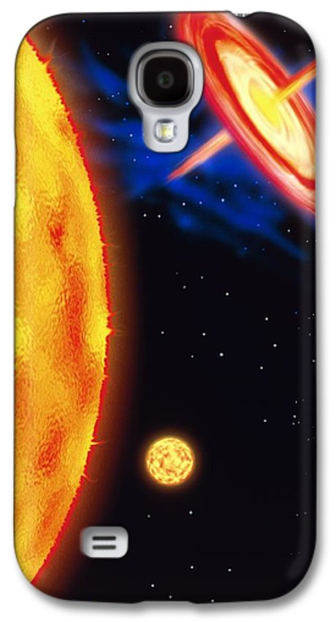 Star Evolution Galaxy S4 Case featuring the photograph Computer Artwork Of Stages In A Star's Life by Victor Habbick Visions