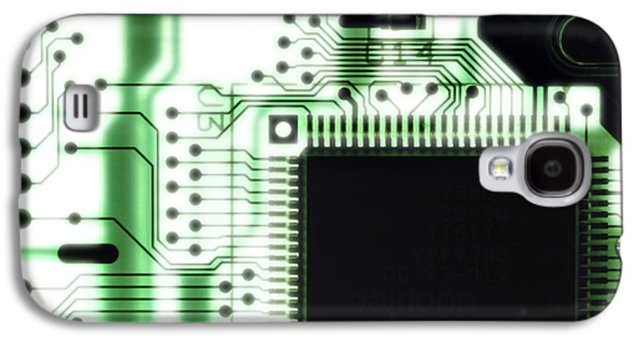 Component Galaxy S4 Case featuring the photograph Computer Circuit Board by Tim Vernonlth Nhs Trust