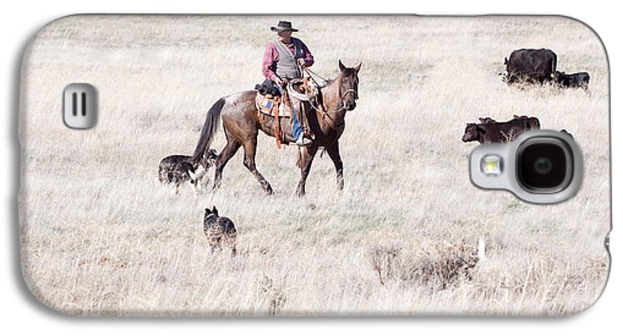 Cowboy Galaxy S4 Case featuring the photograph Cowboy by Cindy Singleton