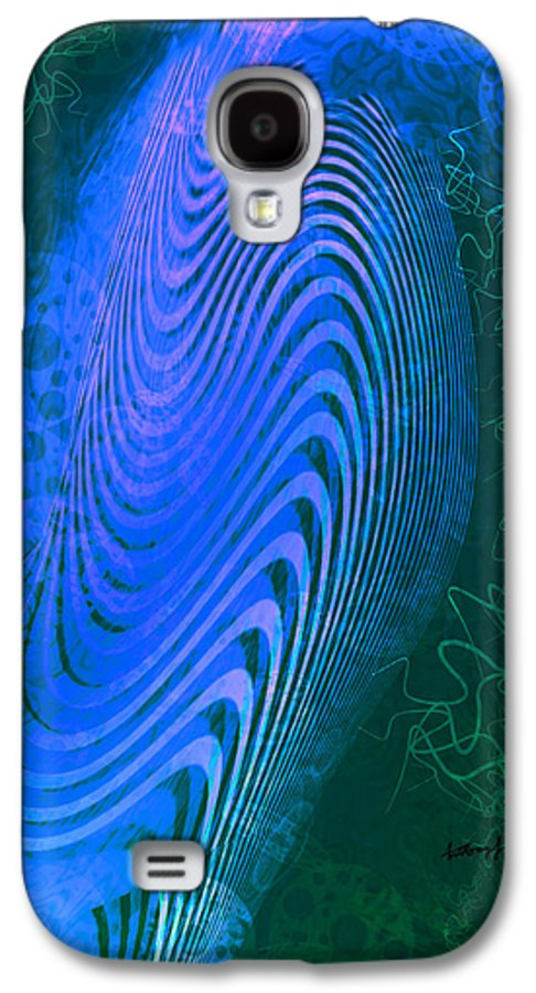 Abstract Galaxy S4 Case featuring the digital art Design Genesis by Anthony Caruso