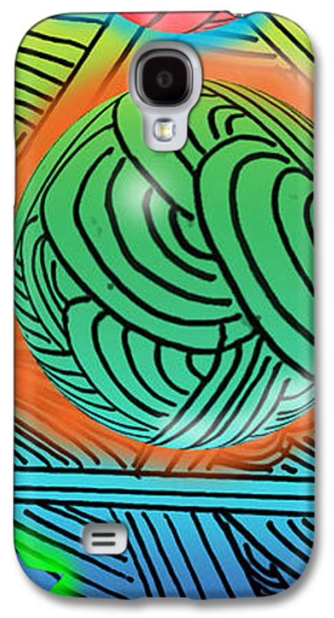 Abstract Galaxy S4 Case featuring the digital art Digital Doodles by Anthony Caruso