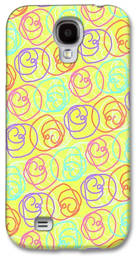 Doodles Galaxy S4 Case featuring the digital art Doodles by Louisa Knight