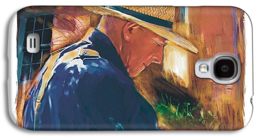 Farmer Galaxy S4 Case featuring the digital art Early To Rise . . . by Bob Salo