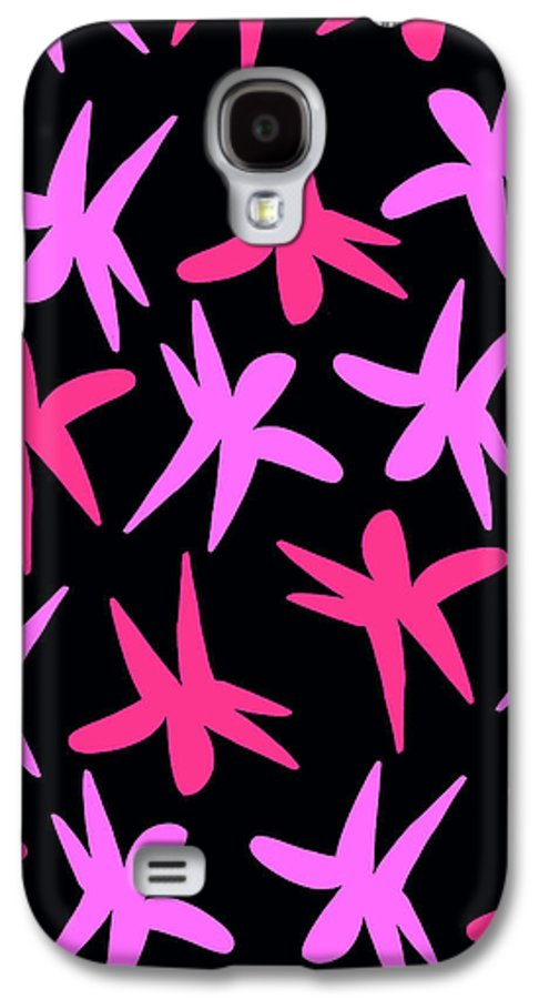 Louisa Galaxy S4 Case featuring the digital art Flower Stars by Louisa Knight