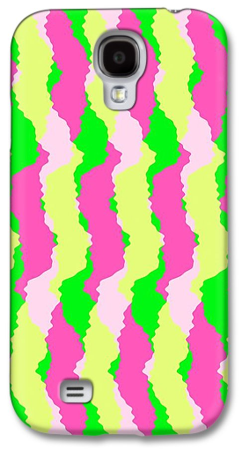 Funky Stripes Galaxy S4 Case featuring the digital art Funky Stripes by Louisa Knight