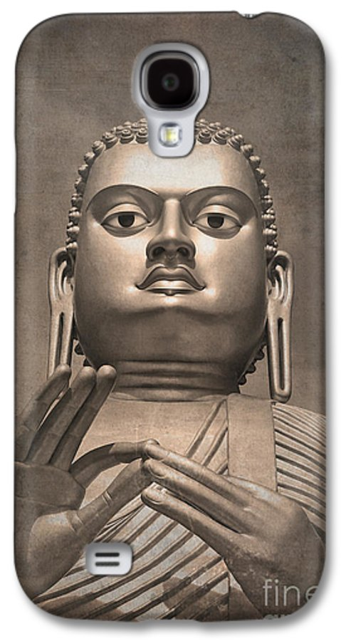 Ancient Galaxy S4 Case featuring the photograph Giant Gold Buddha Vintage by Jane Rix