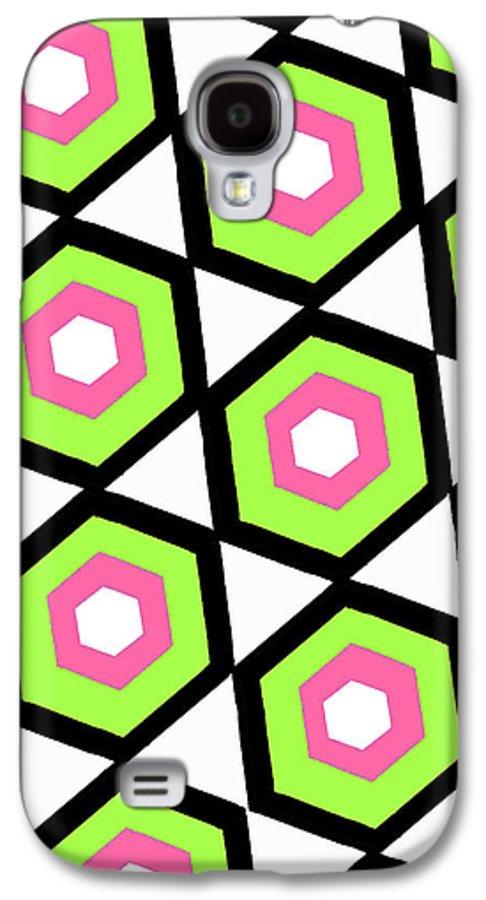 Louisa Galaxy S4 Case featuring the digital art Hexagon by Louisa Knight