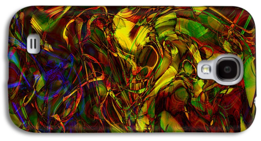 Abstract Galaxy S4 Case featuring the digital art Injections by Linda Sannuti