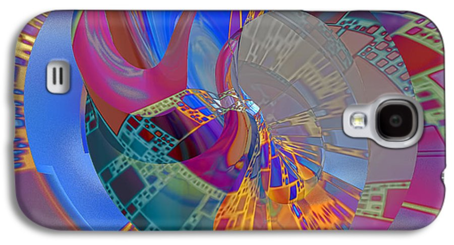 Abstract Galaxy S4 Case featuring the digital art Into The Inner World by Deborah Benoit
