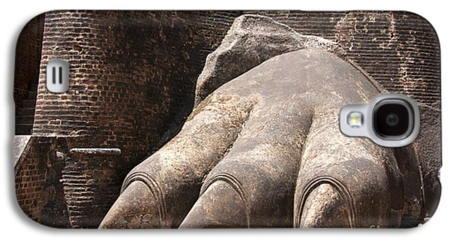 Ancient Galaxy S4 Case featuring the photograph Lion's Paw Sigiriya by Jane Rix