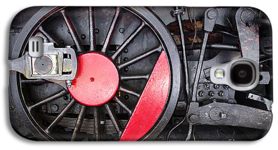 Antique Galaxy S4 Case featuring the photograph Locomotive Wheel by Carlos Caetano