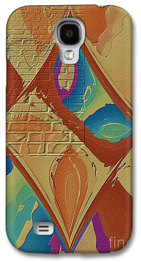 Abstract Galaxy S4 Case featuring the photograph Look Behind The Brick Wall by Deborah Benoit