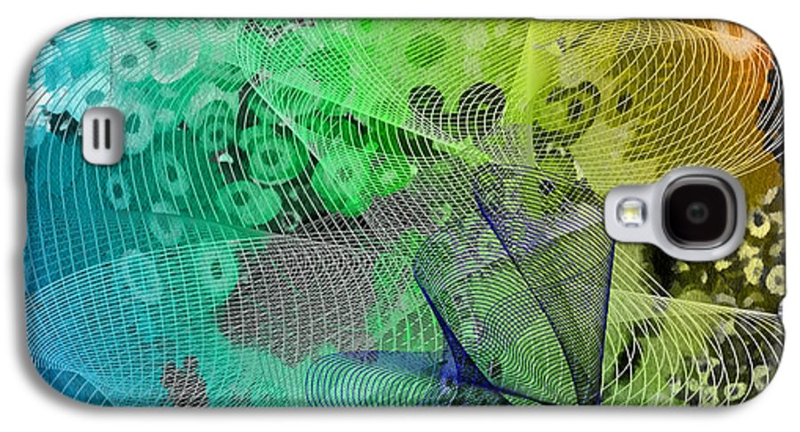 Abstract Galaxy S4 Case featuring the mixed media Magnification 5 by Angelina Vick