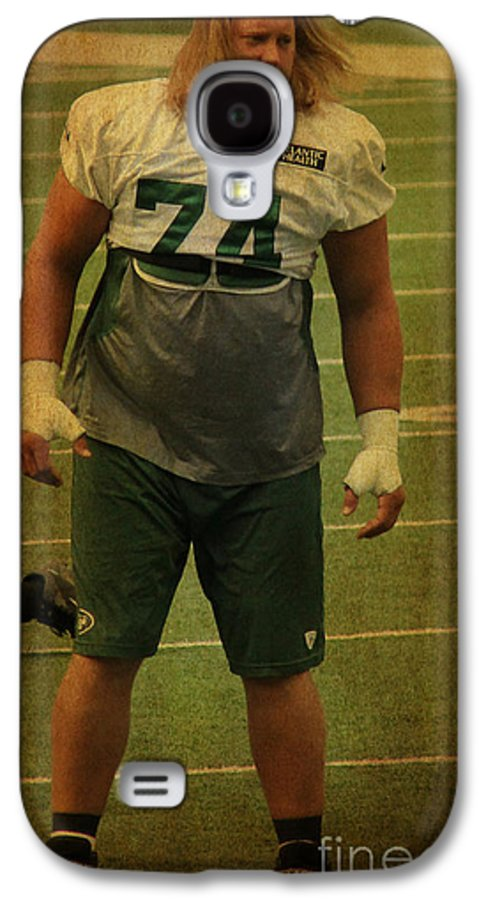 Lee Dos Santos Galaxy S4 Case featuring the photograph Nick Mangold - The New York Jets by Lee Dos Santos