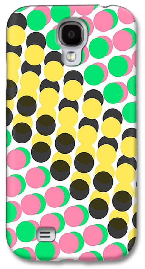 Overlayed Dots Galaxy S4 Case featuring the digital art Overlayed Dots by Louisa Knight