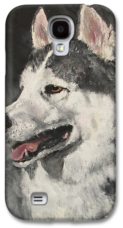Dog Galaxy S4 Case featuring the painting Ozzie by Jack Skinner