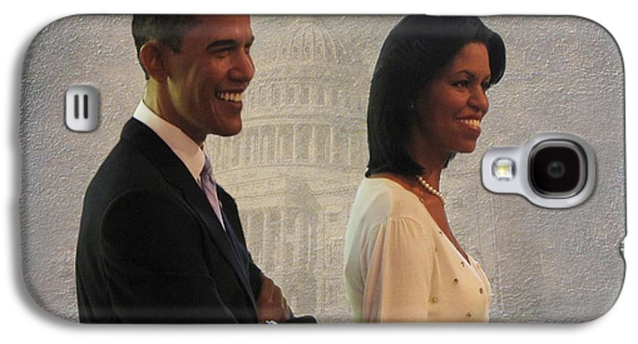 President Obama Galaxy S4 Case featuring the photograph President Obama And First Lady by David Dehner