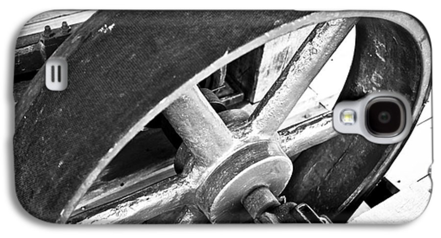 Deep River Galaxy S4 Case featuring the photograph Pulley Wheel From Industrial Sawmill by Paul Velgos
